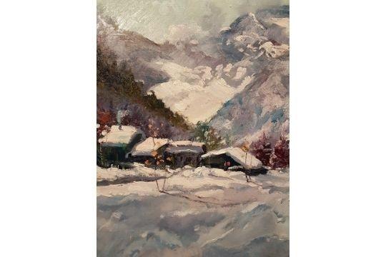 Circondato dalle montagne - Olio - cm 50x60