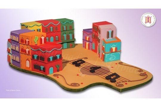 Plaza Delle Chitarre  Tecnica: Design in Gomma  Dimensioni: cm 50x40x15