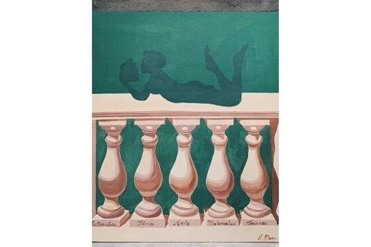 Il Riscatto Della Cultura - Acrilico su tavola in legno - cm 90x72 - € 150.00